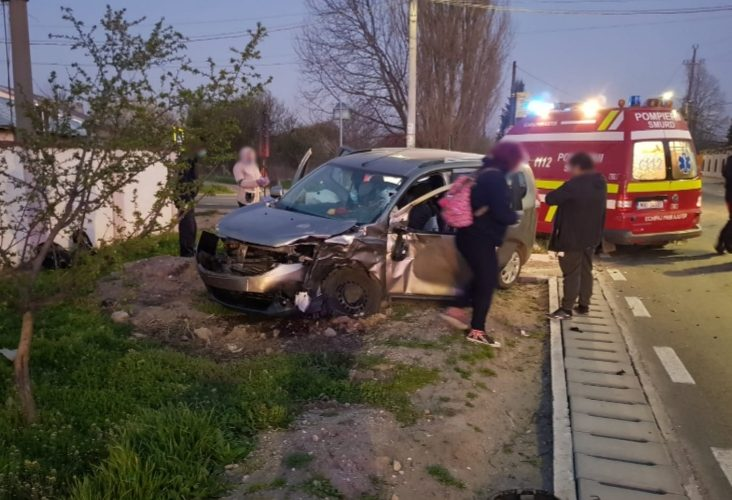 Accident rutier în localitatea Bolintin Vale