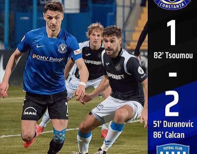 Liga I: FC Viitorul Constanţa – Politehnica Iaşi 1-2
